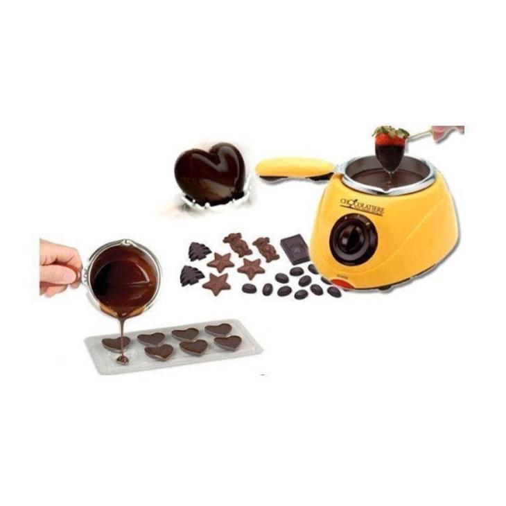 Aparat electric pentru topit ciocolata + Set Fondue – Chocolatiere