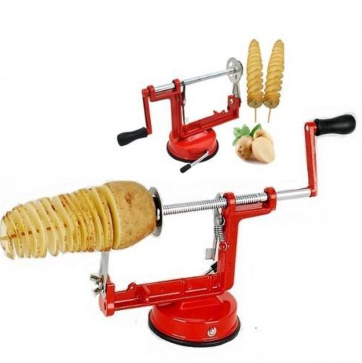 Aparat pentru taiat cartofi / mere in forma de spirala