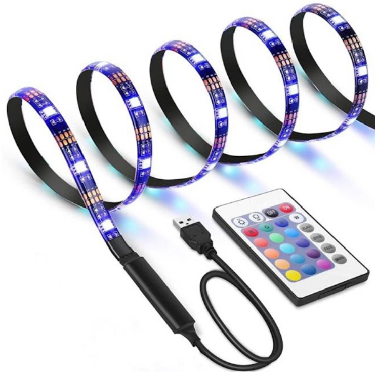 Banda Smart LED RGB 2 metri, lumina ambientala, TV, USB