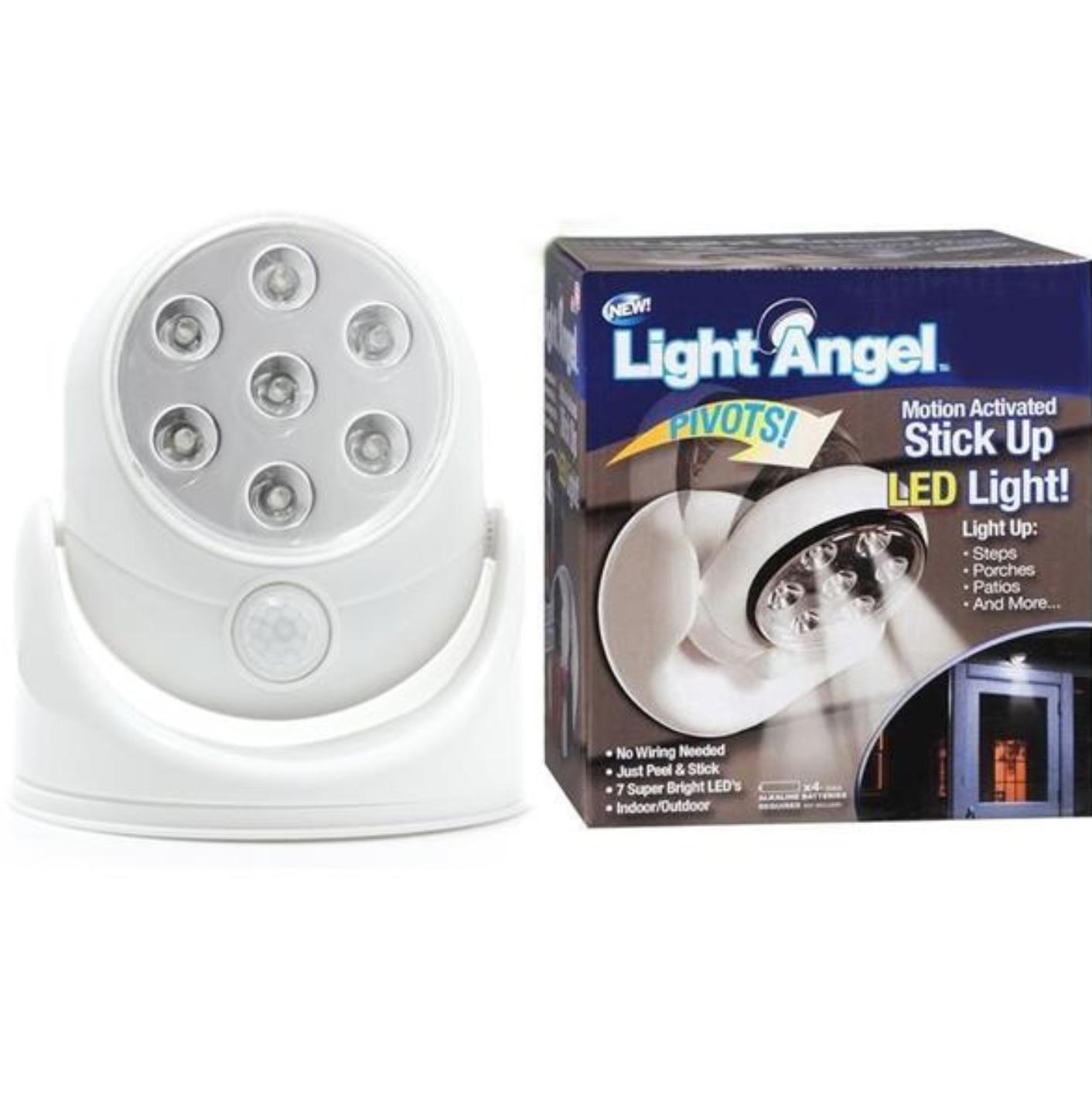 Bec cu senzor de miscare fara fir - 7 leduri Light Angel 360 grade