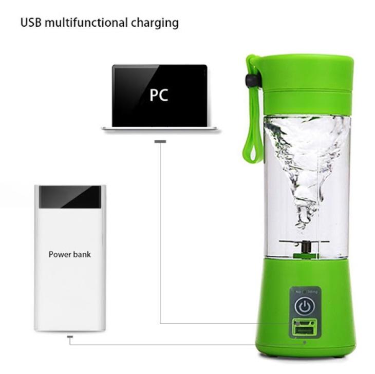 Blender cu acumulator si functie de baterie externa