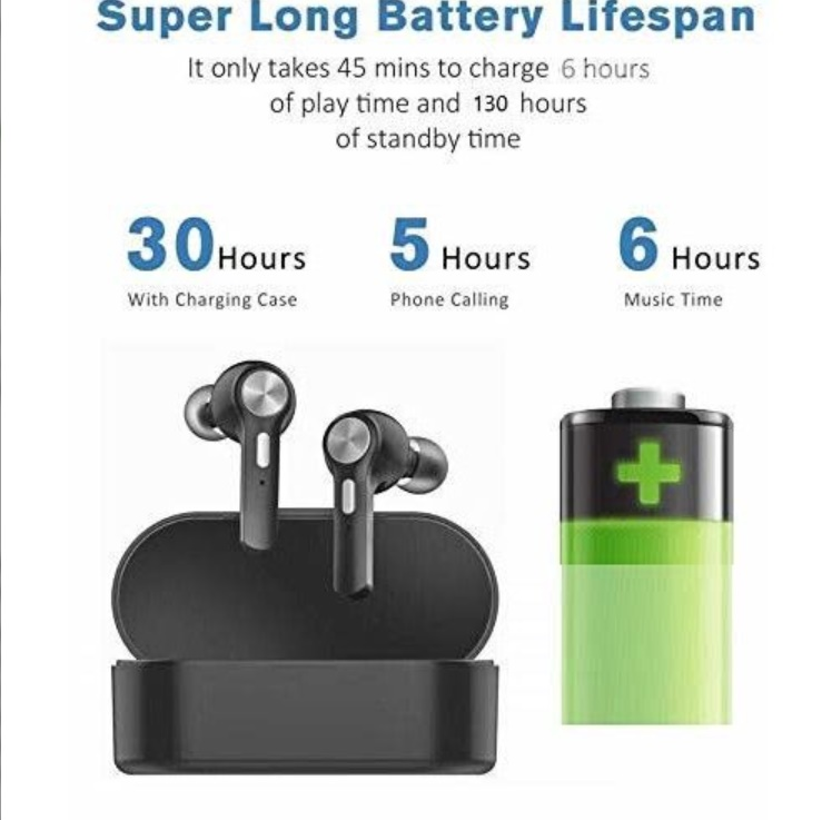 Casti Bluetooth In-Ear Wireless, LS-505 TWS, baza incarcare