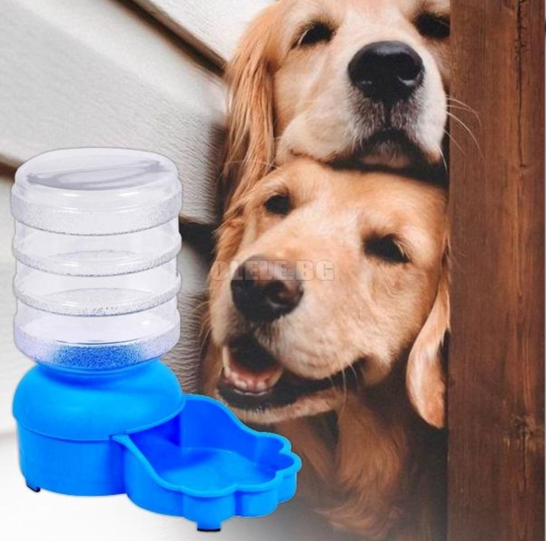 Castron cu dozator de apa pentru catel, 2000 ml, Albastru