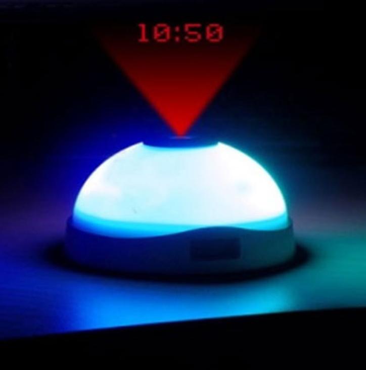 Ceas multicolor cu alarma si proiectie ora pe tavan