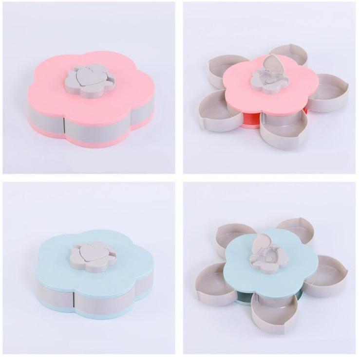 Cutie snacks cu sertare - Floare cu petale
