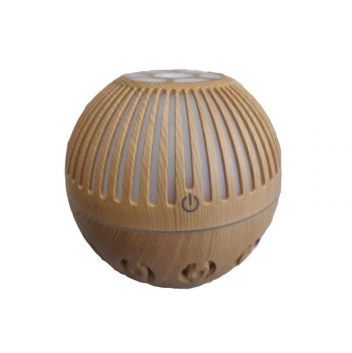 Difuzor pentru aromaterapie tip sfera cu LED incorporat, 130 ml