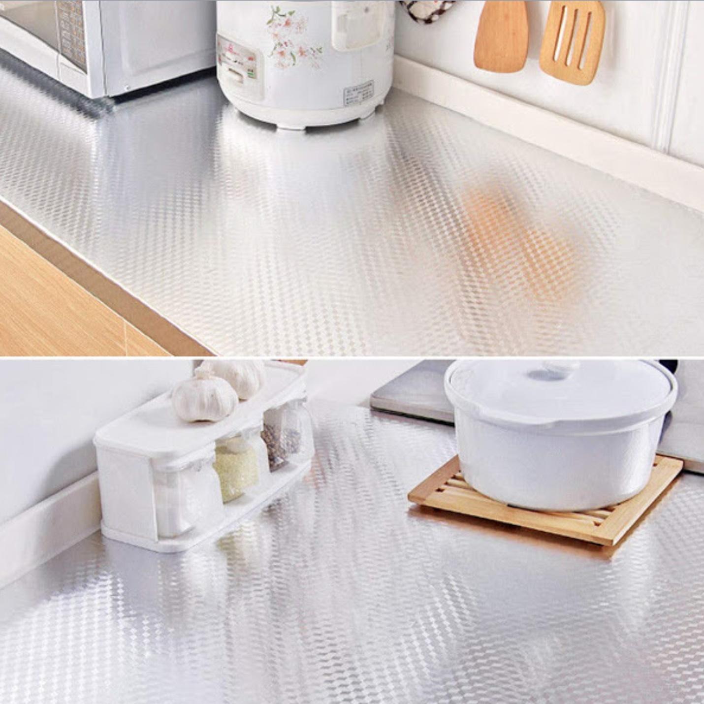 Folie adeziva de aluminiu, pentru bucatarie, 60 x 300 cm