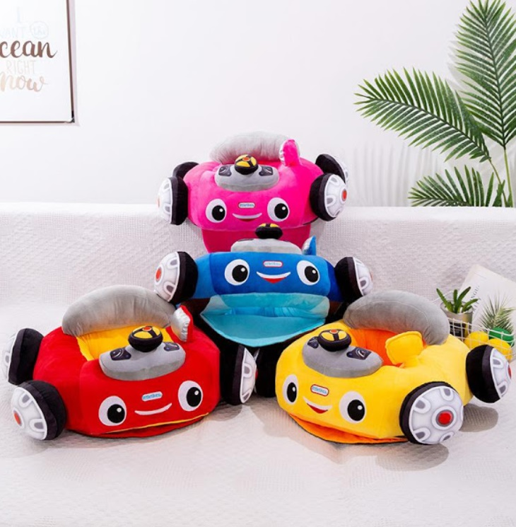 Fotoliu din plus pentru bebelusi - masinuta vesela cu volan