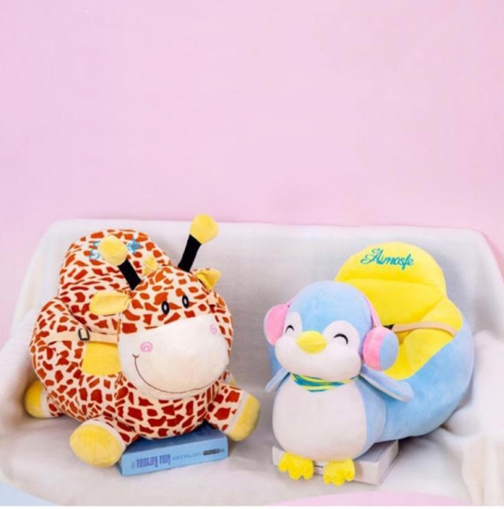 Fotoliu pentru bebe cu animalut si centura de siguranta