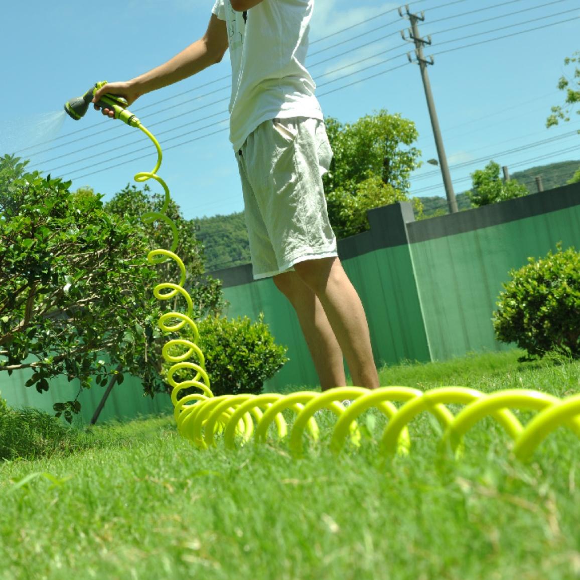 Furtun extensibil verde pentru gradina Green Garden - 15M