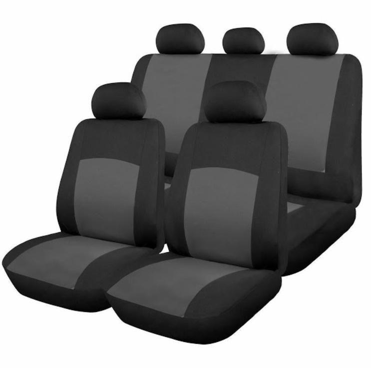 Huse scaune auto Oxford 9 bucati, culoare Gri