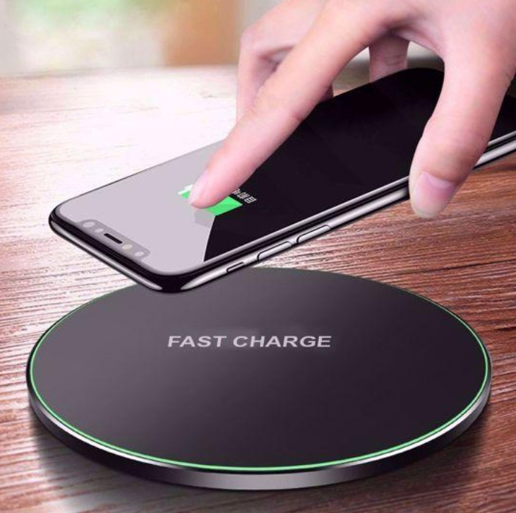 Incarcator Wireless Fast Charging Pad QI, Round Black
