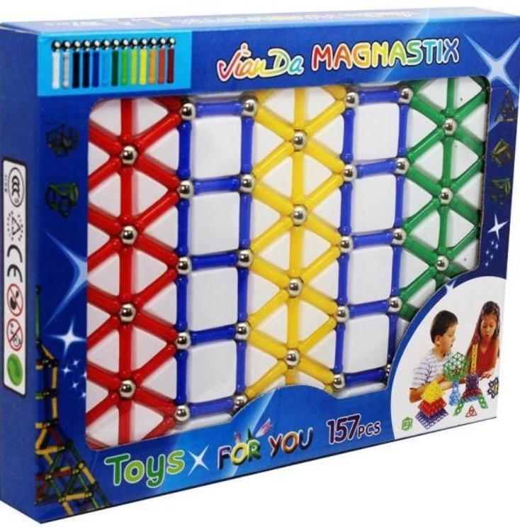 Joc creativ pentru copii, Magnastix 157 piese