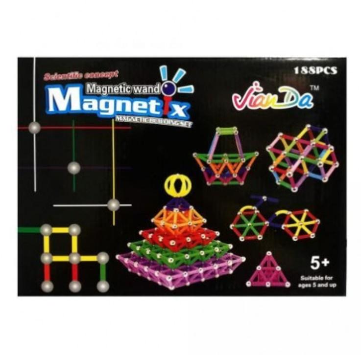 Joc creativ pentru copii, Magnetix 188 piese