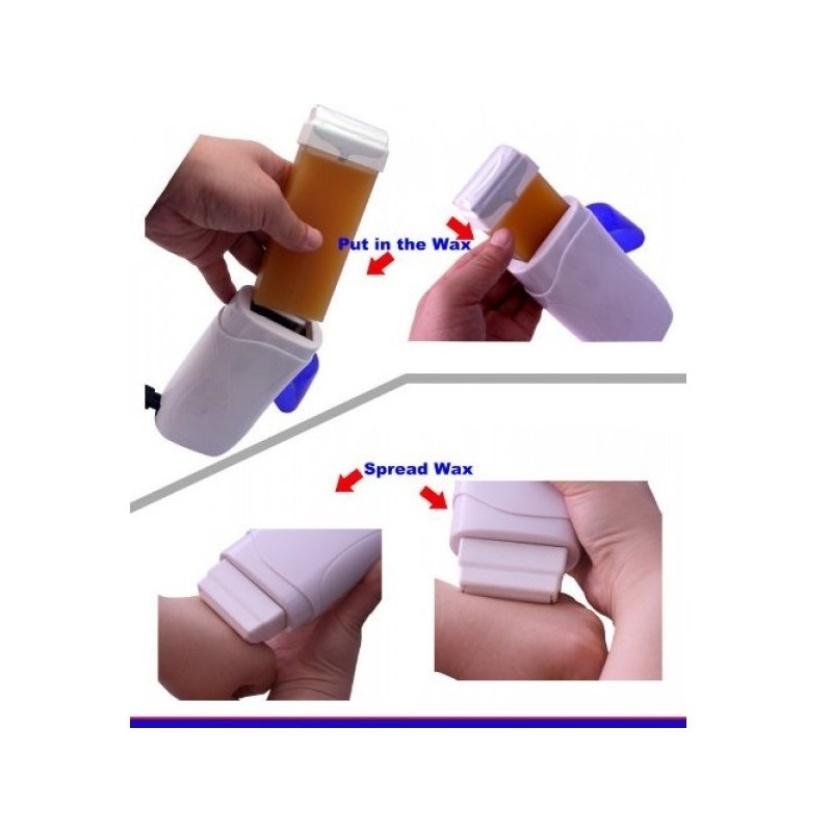Kit pentru epilare profesionala, incalzitor ceara, 100 benzi, rezerva - pentru epilare