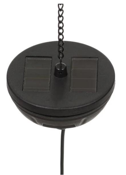 Lampă solară suspendată metalică neagră 18,5x24 cm