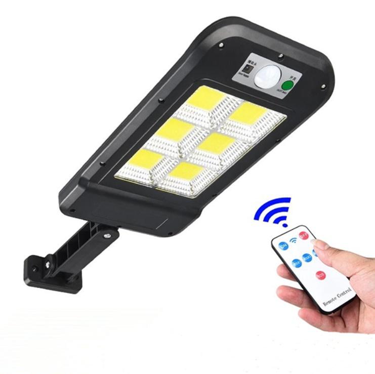 Lampa solara cu 6 celule, LED-uri COB si telecomanda