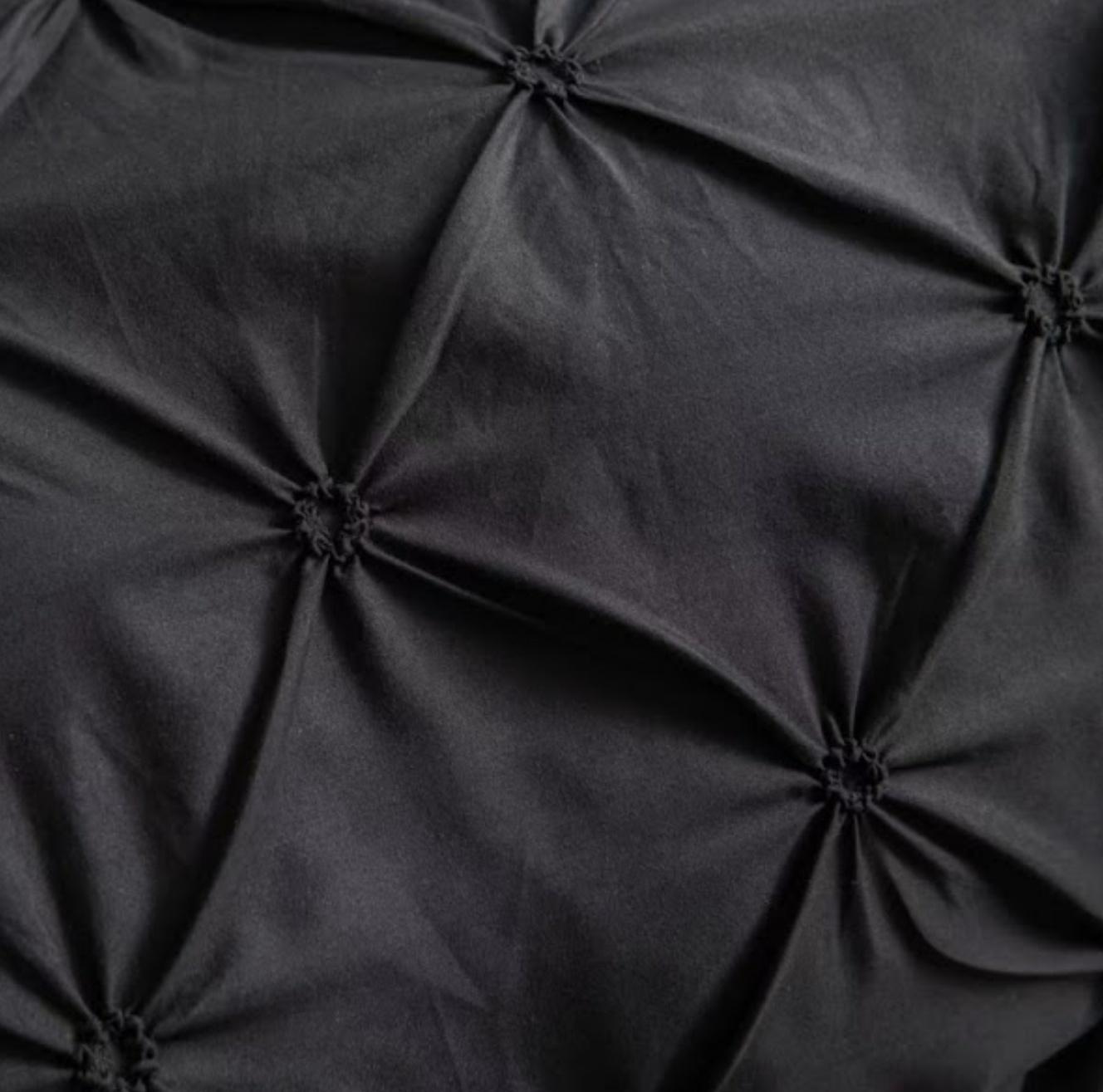 Lenjerie de pat Premium, 6 piese, finet, 200x220 cm, NEGRU