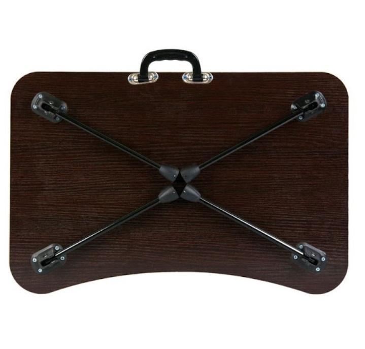 Masa wenge din lemn cu picioare pliabila, 59x39x27 cm