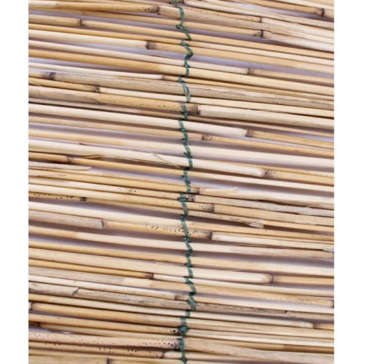 Panou de gard tip paravan din stuf pentru gradina, 300 x 150 cm