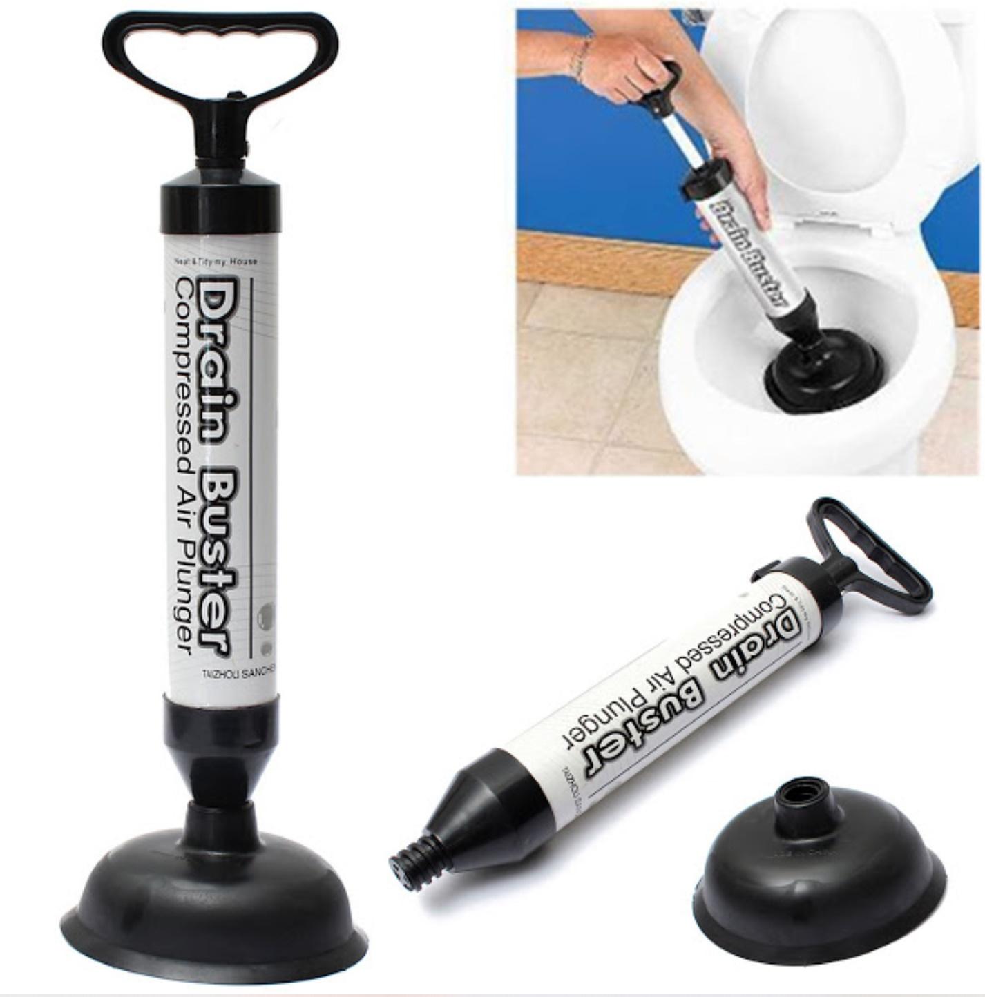Pompa pentru desfundat Drain Buster cu camera de compresie