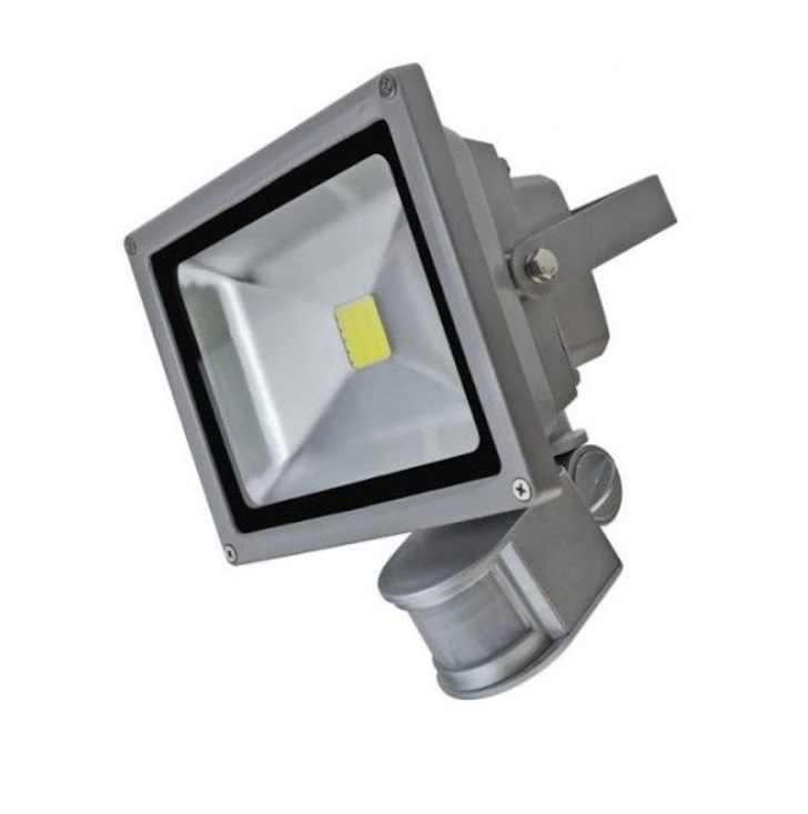 Proiector LED metalic cu senzor de miscare 10 W  20 W  30 W