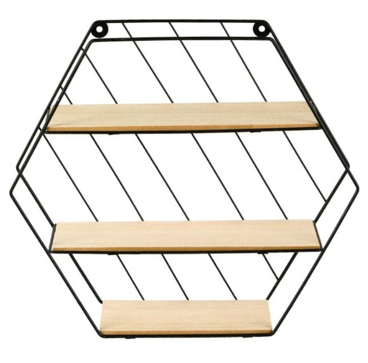 Raft decorativ cu 3 nivele, 35 x 9 x 30.5 cm