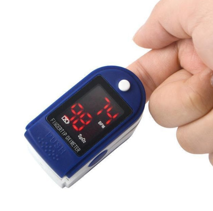 Pulsoximetru, masoara pulsul si saturatia de oxigen 1+1 CADOU