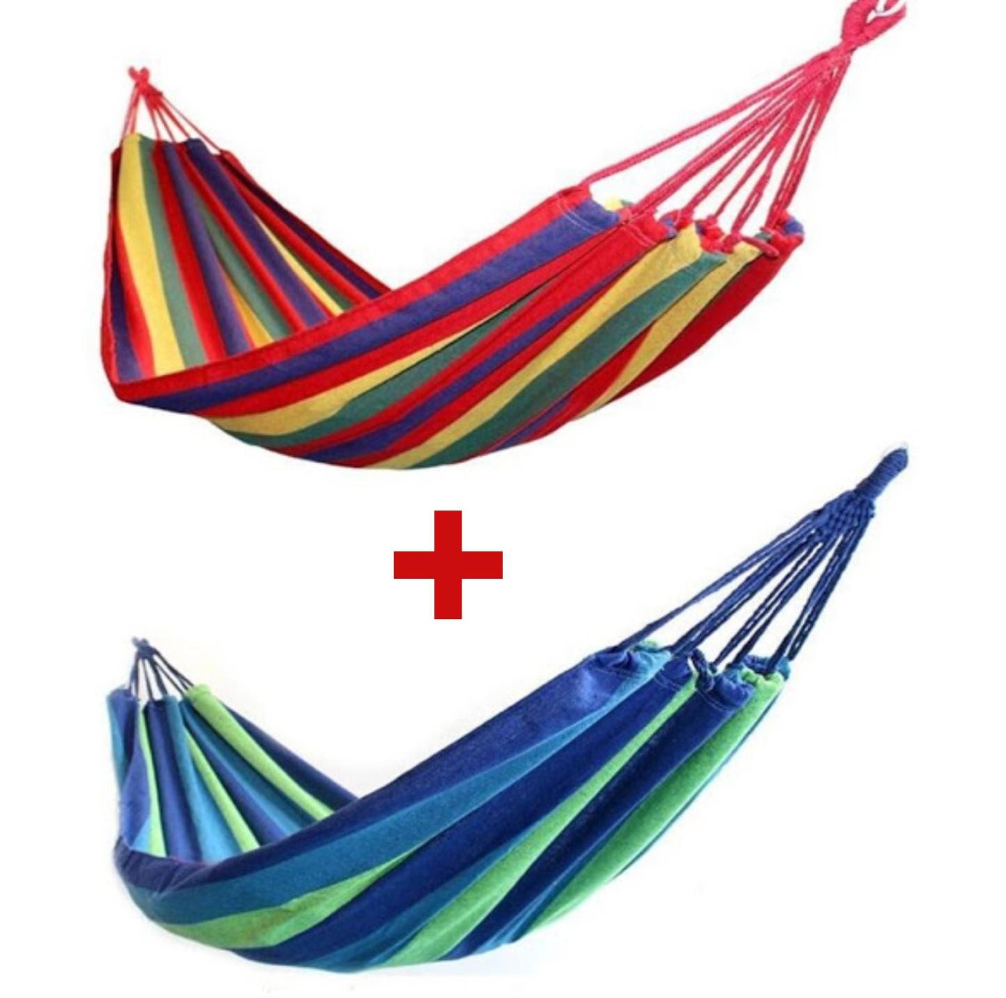 SET 2 X Hamac multicolor din bumbac pentru 1 persoana 180 x 80 cm