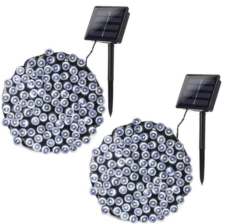 Set 2 x instalatie LED pentru exterior cu incarcare solara 100 LED