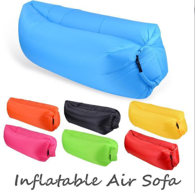 Set 2 x Saltea gonflabila Lazy Bag AIR SOFA umflare cu aer
