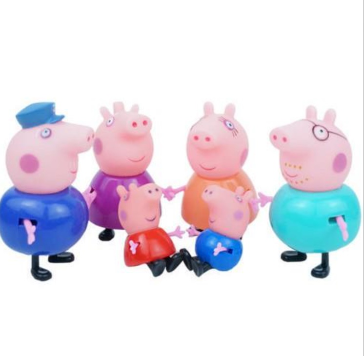 Set 6 figurine Peppa Pig, purcelusa Peppa si familia