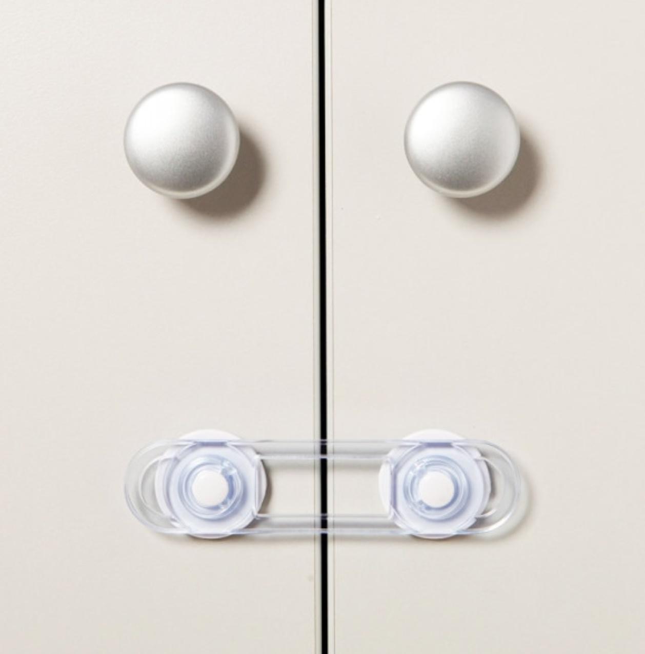 Set 7 sigurante universale, protectie copii pentru usi dulap si sertare, sistem de blocare mobilier