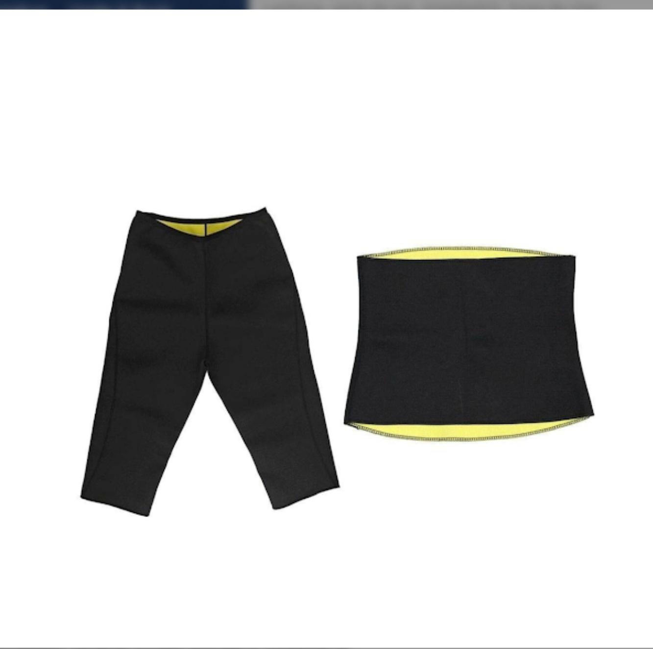 Set din neopren Pantaloni pentru slabit + Centura pentru slabit