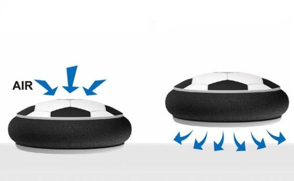 Set fotbal cu porti minge si minge rotativa Hover Bal