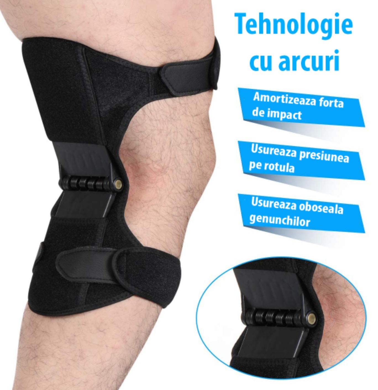 Set stabilizatori de genunchi, 2 bucati, curele ajustabile