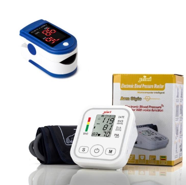 SET Tensiometru electronic de brat + Pulsoximetru
