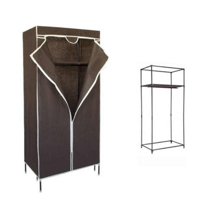 Suport  dulap pliabil mobil pentru imbracaminte 75 x 45 x 155 cm, culoare maro
