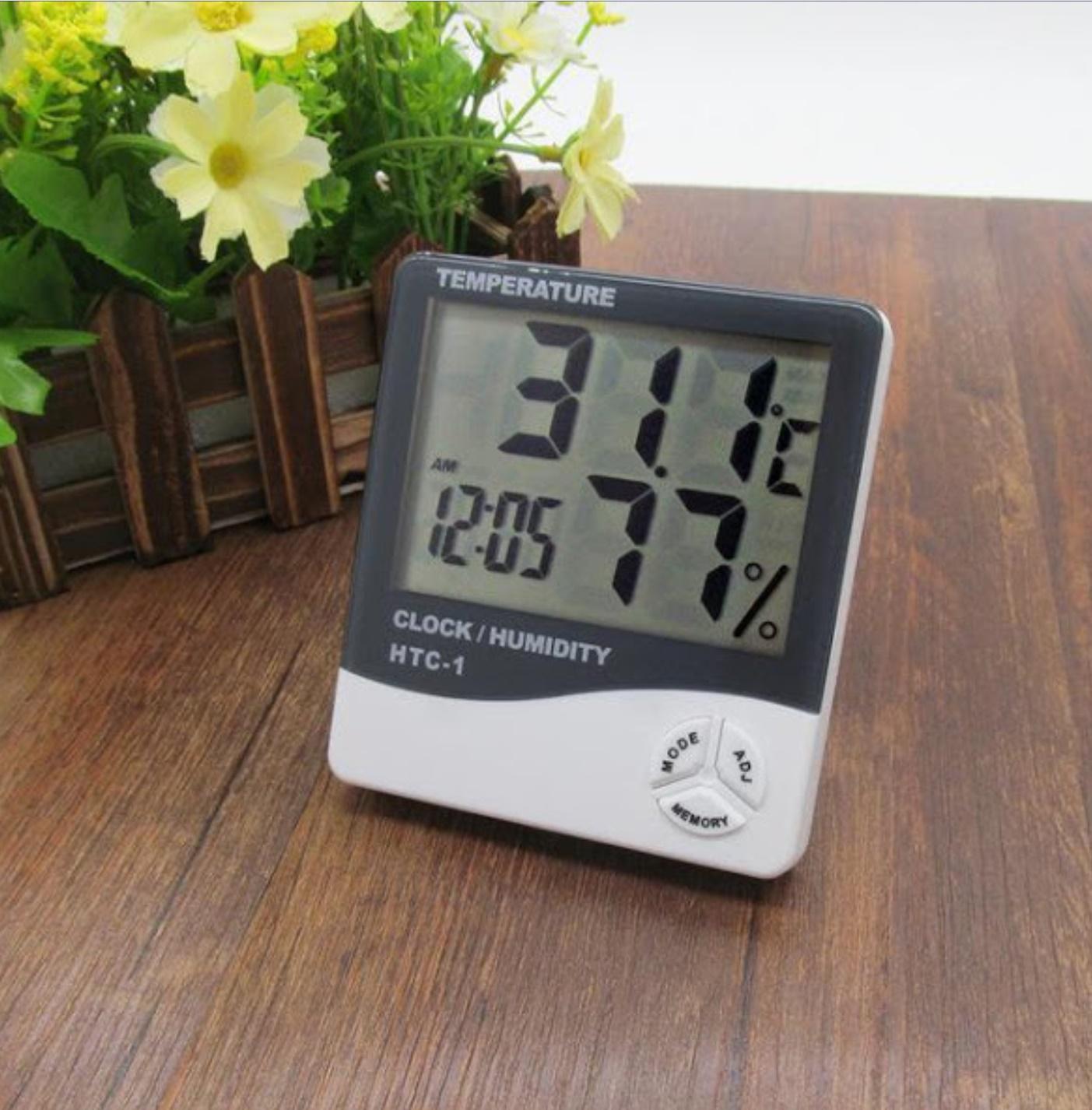 Termohigrometru digital 3 in 1 cu ceas, alarma, calendar si senzor de umiditate